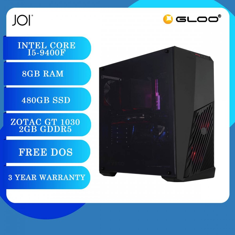 JOI PC 5090 (i5-9400F/8GB/480GB SSD/GT 1030 2GB/DOS)