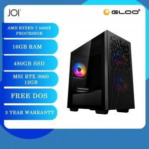 JOI PC A7500 (Ryzen 7 5800X/16GB/480GB SSD/RTX 3060 12GB/DOS)