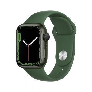 Apple Watch Series 7 GPS, 41mm Green Aluminium Case with Clover Sport Band MKN03ZP/A