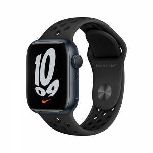 Apple Watch Nike Series 7 GPS, 41mm Midnight Aluminium Case with Anthracite/Black Nike Sport Band MKN43ZP/A