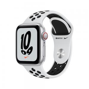 [2021] Apple Watch Nike SE GPS, 40mm Silver Aluminium Case with Pure Platinum/Black Nike Sport Band