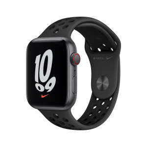 [2021] Apple Watch Nike SE GPS, 44mm Space Grey Aluminium Case with Anthracite/Black Nike Sport Band