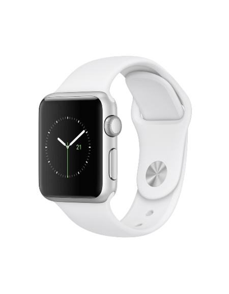 Apple Watch Series 1 Silver Aluminium 38mm White Sport Band