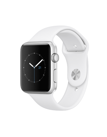 Apple Watch Series 1 Silver Aluminium 42mm White Sport Band