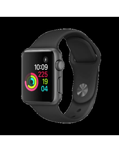 Apple Watch Series 1 Space Grey Aluminium 38mm Black Sport Band