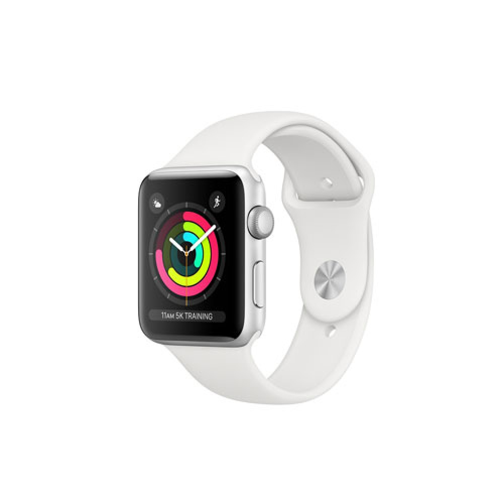 Apple Watch Series 3 GPS, 38mm Silver Aluminium Case with White Sport Band MTEY2TH/A