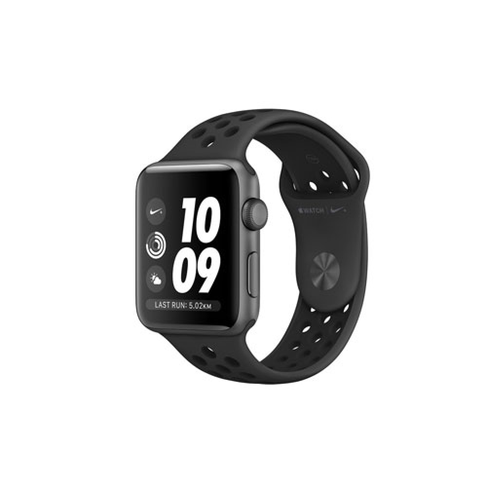 Apple Watch Nike+ Series 3 GPS, 38mm Space Gray Aluminium Case with Anthracite/Black Nike Sport Band MTF12TH/A