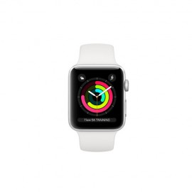 Apple Watch Series 3 GPS, 42mm Silver Aluminium Case with White Sport Band MTF22TH/A