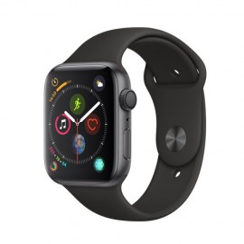 AppleWatch Series4 GPS, 44mm Space Grey Aluminium Case with Black Sport Band MU6D2MY/A