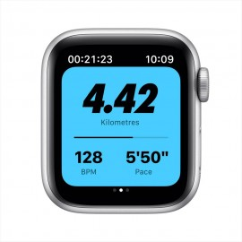 Apple Watch Nike SE GPS, 40mm Silver Aluminium Case with Pure Platinum/Black Nike Sport Band