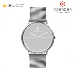 Noerden Life 2+ Plus 38mm Milanese Hybrid Analog Smart Watch PNW-0501 [Silver Steel Strap + Grey Face]