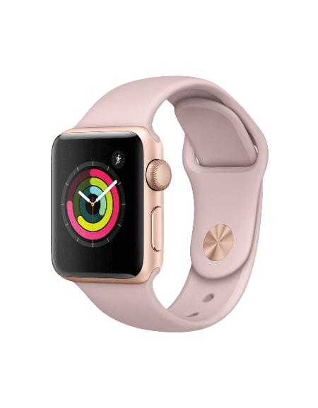 Apple Watch Series 3 Gold Aluminium with 38mm Pink Sand Sport Band