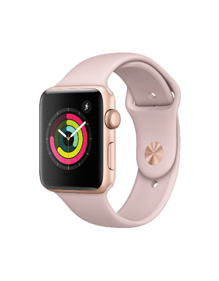 Apple Watch Series 3 Gold Aluminium with 42mm Pink Sand Sport Band