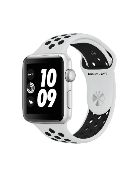 Apple Watch Series 3 Nike+ Silver Aluminium 42mm Pure Platinum/Black Nike Sport Band