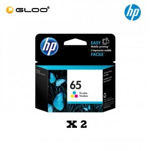 [2 Units] HP 65 Tri-color Original Ink Advantage Cartridge N9K01AA