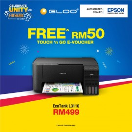 Epson EcoTank L3110 All-in-One Ink Tank Printer - Black  [FREE Redeem RM50 Touch 'n Go E-Voucher]