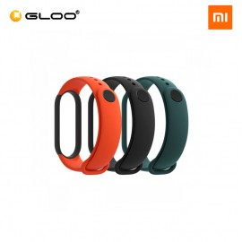 Mi Smart Band 5 Strap (3 pcs pack) - Black + Orange + Green