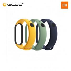 Mi Smart Band 5 Strap (3 pcs pack) - Blue + Yellow + Light Green