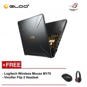 """ASUS TUF Gaming FX505G-MBQ498T (i5-8300,4GB,512GB,NV 6GB,15.6"""",W10) [FREE] Logitech Wireless Mouse M170 + Vinnfier Flip 2 Headset"""