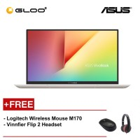 "Asus Vivobook S330F-AEY102T (i3-8145U/4GB/256GB/13.3""/Intel UHD Graphics 620/W10/Icicle Gold) [FREE] Logitech Wireless Mouse M170 + Vinnfier Flip 2 Headset"