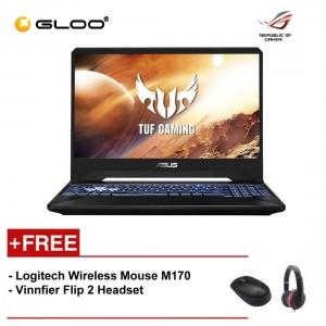 """Asus FX505A-BQ122T Notebook (R5-3550H/4G/512G/4VG/W10/15.6""""/GUN METAL) [FREE] Logitech Wireless Mouse M170 + Vinnfier Flip 2 Headset"""