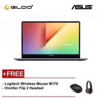"""ASUS S530F-NBQ269T (i5-8265,4GB,1TB+128,NV 2G,15.6"""",W10,GRN) [FREE] Logitech Wireless Mouse M170 + Vinnfier Flip 2 Headset"""