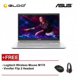 """ASUS A409F-JEB097T Laptop (i5-8265,4GB,512GB,NV 2GB,14"""",W10,SIL) [FREE] Logitech Wireless Mouse M170 + Vinnfier Flip 2 Headset"""