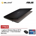 """ASUS X441M-AGA001T laptop (N4000,4GB,500GB,14"""",W10,BLK) [FREE] Logitech Wireless Mouse M170 + Shield Care 1 Year Extended Warranty"""
