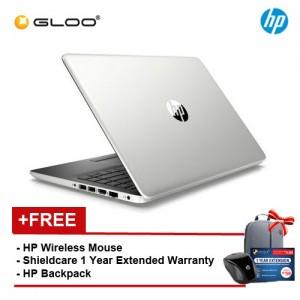 "HP 14s-cf1026TX 14"" FHD Notebook (i7-8565U, 1TB, 4GB, AMD Radeon 530 2GB, W10) - Silver [FREE] HP Wireless Mouse + HP Backpack + Shieldcare 1 Year Extended Warranty"