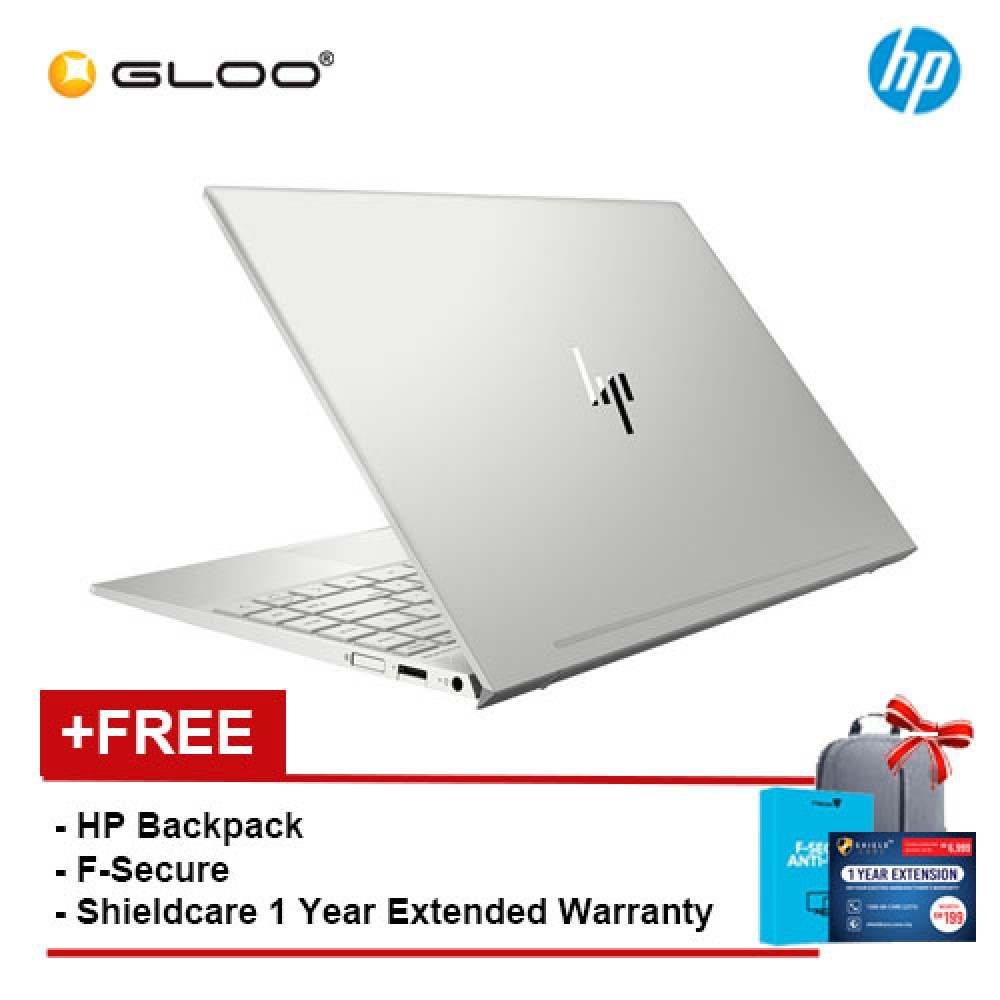 "HP ENVY 13-ah1027TX 13.3"" FHD Laptop (i5-8265U, 8GB 360GB, Nvidia GeForce MX150 2GB) - Silver [FREE] HP Backpack + Shieldcare 1 Year Extended Warranty + F-Secure 1 Year Client Security"