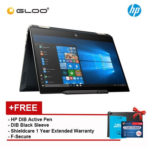 "HP Spectre X360 13-AP0044TU 13.3"" FHD Thin Flip Laptop (i5-8265U, 256GB, 8GB, Intel® UHD Graphics 620, W10) - Poseidon Blue [FREE] HP DIB Active Pen + HP DIB Black Sleeve + Shield care 1 Year Extra Warranty + F-Secure 1 Year Client Security"