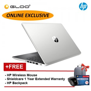 NEW [Exclusive] HP 15-DA0441TX Laptop (i7-8550 4GB 1TB NVIDIA MX130 2GB)(Silver) [FREE] HP Wireless Mouse + HP Backpack + Shieldcare 1 Year Extended (Only Available Online)