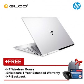 """HP ENVY 13-ad173TU Notebook (Intel i5-8250U,256GB,4GB,13.3"""",W10,Intel HD,Silver) [FREE - Shield care 1 Year Extended Warranty and HPx3000 Wireless Mouse]"""