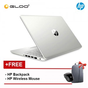 "NEW HP 14S-DK0012AX 14"" HD Laptop (AMD Ryzen 3 3200U, 256GB, 4GB, AMD Radeon 530 2GB, W10) - Silver [FREE] HP Backpack + HP Wireless Mouse + Complimentary Premium Merchandise Gift (C-Shaped Handle, Inverted Umbrella)*"