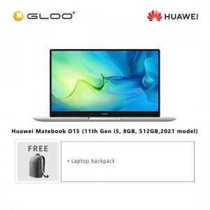 Huawei Matebook D15 (11th Gen i5, 8GB, 512GB, 2021 model) FREE Huawei CD60 Matebook Series Laptop Backpack Grey