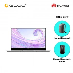 Huawei Matebook D 14 (Mystic Silver) i5/8GB/512GBSSD/Mx250 FREE Huawei CD60 Laptop Backpack (Grey) + Huawei CD20 Bluetooth Mouse (Black)