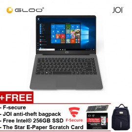 "JOI Book 150 – AD-L150DG Cel N4100, 4+32GB, 14"" FHD, W10 Home, Dark Grey {Free 256GB SSD + Anti-Theft Backpack - Blue +F-secure + The Star E-Paper Scratch Card}"