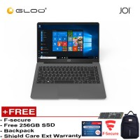 "JOI Book 150 – AD-L150DG/AD-L150G Cel N4100, 4+32GB, 14"" FHD, W10 Home {Free 256GB SSD + Anti-Theft Backpack - Blue + Bitdefender 1Yr + Shieldcare 1 Yr Extended Warranty }"