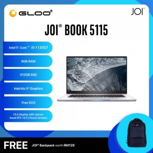 "JOI Book 5115 (i5-1135G7/8GB/512GB SSD/15.6""/Touch/Gray) Free JOI Backpack"