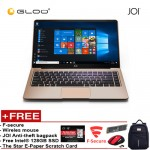 """JOI Book 150 – AD-L150G Cel N4100, 4+32GB, 14"""" FHD, W10 Home, Gold {Free 128GB SSD + Anti-Theft Backpack - Blue + Tinytech Wireless Mouse + F-secure + The Star E-Paper Scratch Card}"""