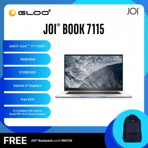 "JOI Book 7115 (i7-1165G7/16GB/512GB SSD/15.6""/Touch/Gray) Free JOI Backpack"