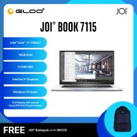 """JOI Book 7115 (i7-1165G7/16GB/512GB SSD/W10H/15.6""""/Touch/Gray) Free JOI Backpack [Choose Color]"""