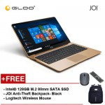 "JOI Book 100 - A147G Cel N3450, 4+32GB, 14"" FHD, W10 Home, Gold {Free Intel® 128GB M.2 80mm SATA SSD + JOI Anti-Theft Backpack - Blue + Logitech M171 mouse}"