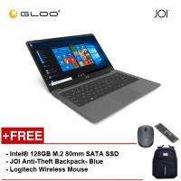 "JOI Book 100 - A147DG Cel N3450, 4+32GB, 14"" FHD, W10 Home, Dark Grey {Free Intel® 128GB M.2 80mm SATA SSD + JOI Anti-Theft Backpack - Blue + Logitech M171 mouse}"
