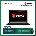 "MSI GF63 9SCSR-888 Notebook (i5-9300H,512GB SSD,4GB,GTX1650 Ti Max Q,W10 H,15.6"" FHD,Blk) [FREE] Razer Mouse + Razer Gaming Headset"