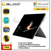 Surface Go Y/4GB 64GB + Surface Go Type Cover Black + Shieldcare 1 Year Extended Warranty + F-Secure EndPoint Protection + Mouse Black