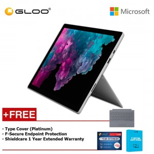 Microsoft Surface Pro 6 Core i5/8GB RAM - 256GB + Type Cover Platinum + Shieldcare 1 Year Extended Warranty + F-Secure EndPoint Protection