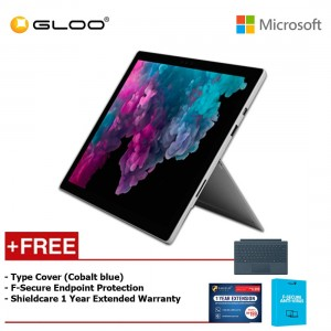 Microsoft Surface Pro 6 Core i5/8GB RAM - 256GB + Type Cover Cobalt Blue + Shieldcare 1 Year Extended Warranty + F-Secure EndPoint Protection