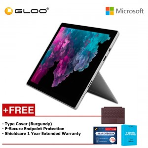 Microsoft Surface Pro 6 Core i5/8GB RAM - 256GB + Type Cover Burgundy + Shieldcare 1 Year Extended Warranty + F-Secure EndPoint Protection
