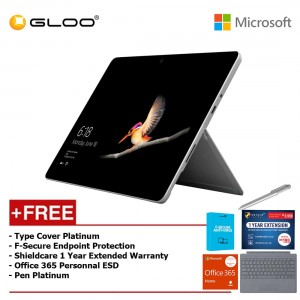 Surface Go Y/8GB 128GB + Surface Go Type Cover Platinum + Shieldcare 1 Year Extended Warranty 1 Year Extended Warranty + F-Secure Anti Virus + Office 365 Personal (ESD) + Pen Platinum